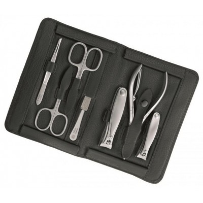 Manicure pedicure set Imantado, black, 7 pcs.