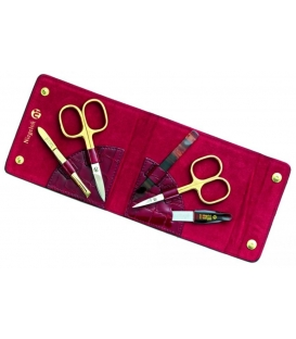 Manicure set Kroko, red, 5pcs.