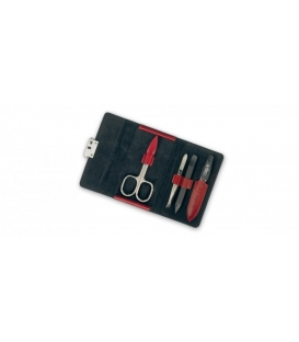 Manicure set Diabolo, red, 4pcs