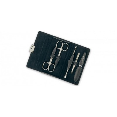 Manicure set Diabolo, black, 5pcs.