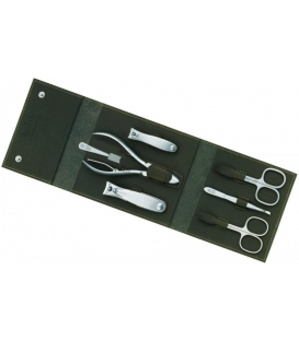 Manicure pedicure set Havanna, tabac, 7pcs.