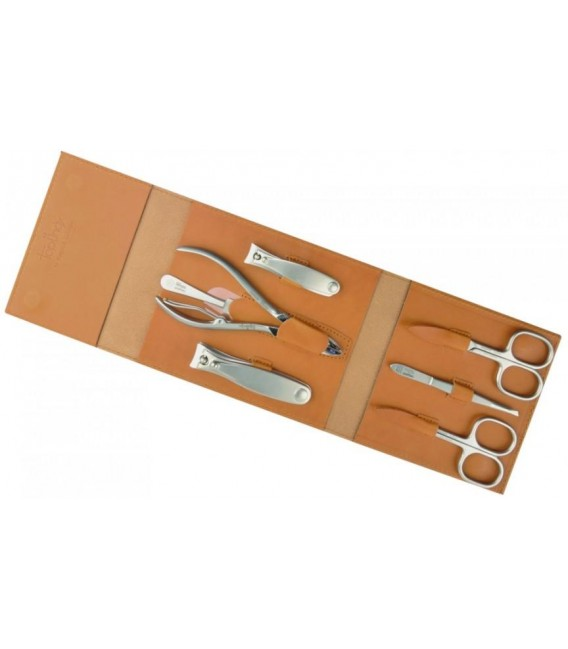 Manicure pedicure set Havanna, caramel, 7pcs.