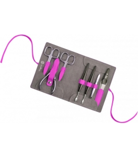 Manicure set Decora, pink lady, 7pcs.