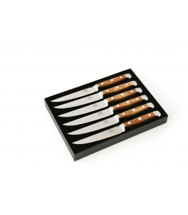 6 Steak Knives, length of blade 12 cm in gift box
